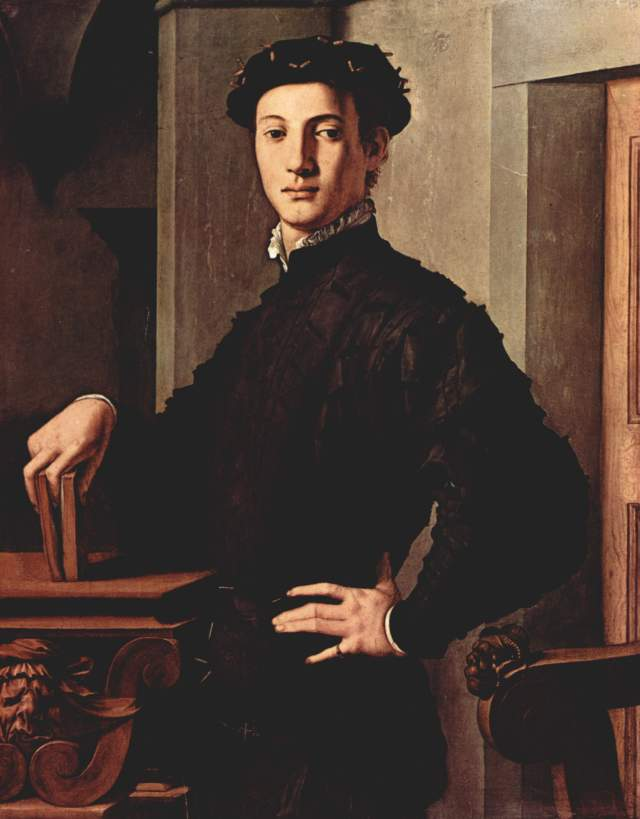 """Portrait of a Young Man with Book"" par Agnolo Bronzino"