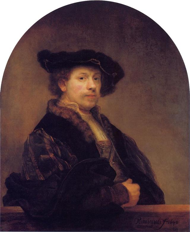 Autoportrait de Rembrandt à 34 ans