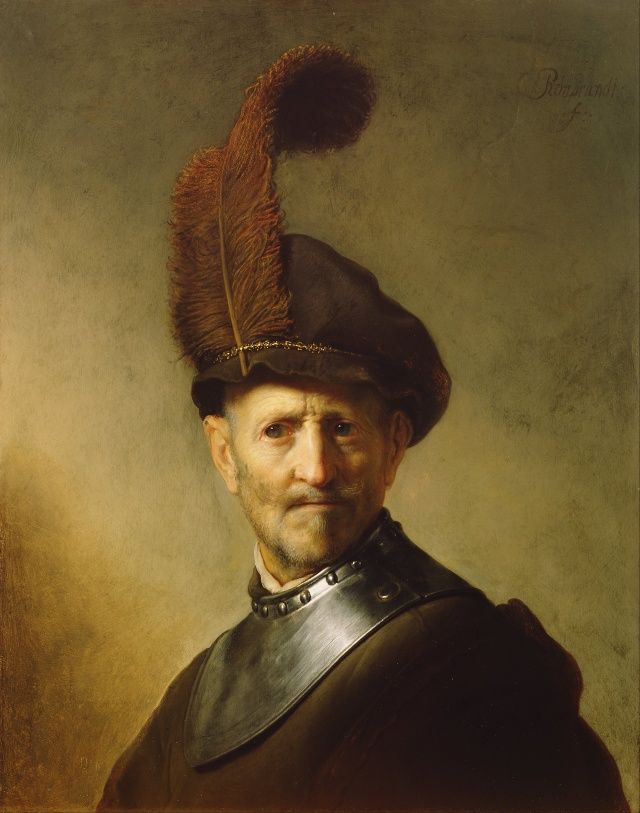 """An Old Man in a Military Costume"" par Rembrandt"