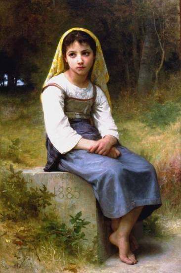 """Meditation"" par William-Adolphe Bouguereau"