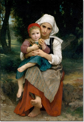 """""""Frère et sœur bretons"""" par William-Adolphe Bouguereau"""