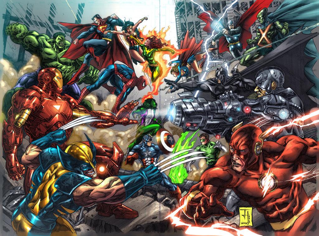Geekeries Marvel Vs Dc Les Super H 233 Ros S Affrontent